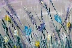 Louka v dešti
